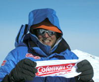 Mike Haugen  - Coleman a the top of Mt. Everest