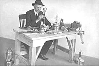W.C. Coleman at his work bench
